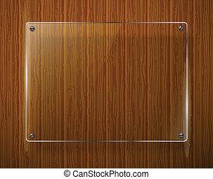 framework., textura, ilustración, de madera, vector, vidrio