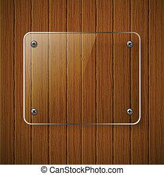framework., textuur, illustratie, houten, vector, glas