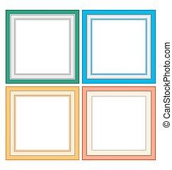 Frameworks in pastel colors