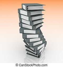 framförande, papers., mappar, 3