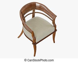 framförande, stol, trä, armstöd, 3