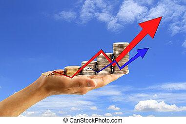 framgång, begrepp, finansiell