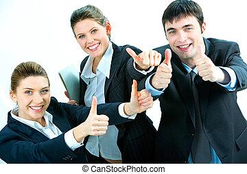 framgång, in, affär