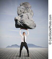 framgång, och, beslut, in, hårt, affär
