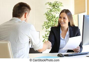 framgångsrik, arbete samtalen