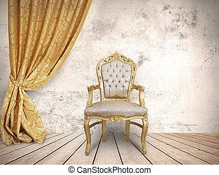 framgångsrik, stol