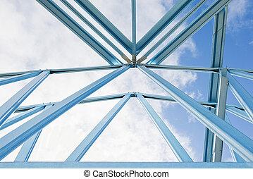 framing., nouveau, construction, maison