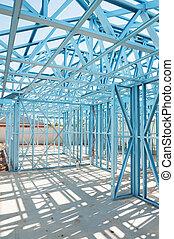 framing., nuevo, construcción, hogar