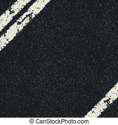 frammento, vettore, eps10, road., asfalto