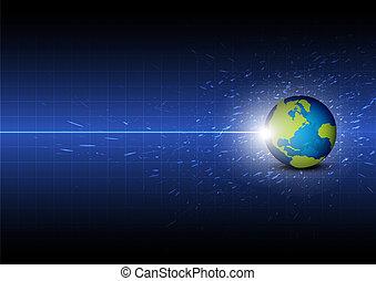 framtid, global, teknologi, bakgrund, digital