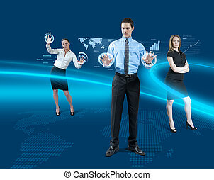 framtid, teamwork, begrepp