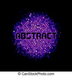 framtidstrogen, abstrakt, bakgrund, med, violett, mosaik, och, inskrift