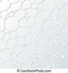 framtidstrogen, abstrakt, cellformig, illustration, bakgrund