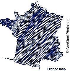frança, mapa