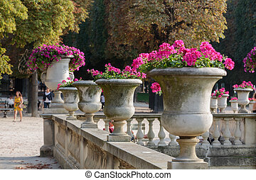 frança, paris, jardim, palácio, luxemburgo