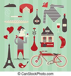 francés, iconos