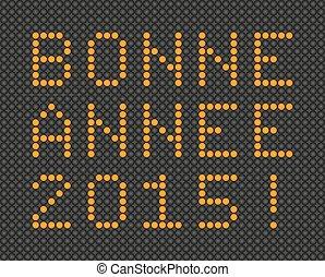 francais, année, 2015, nouveau, carte, heureux