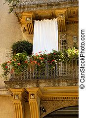 francais, balcon