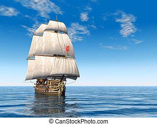 francais, navire guerre