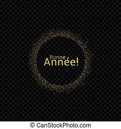 francais, nouvel an, étiquette