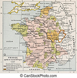 France 1420 - Political map of France in 1420. By Paul Vidal...