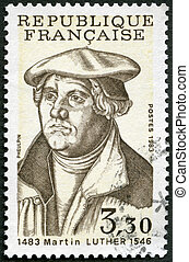 FRANCE - 1983: shows Martin Luther (1483-1546) - FRANCE -...