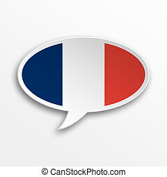 France 3d speech Bubble