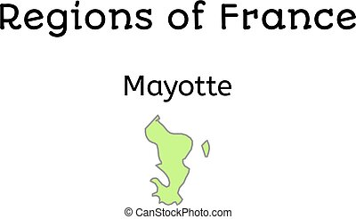 France administrative map of Mayotte
