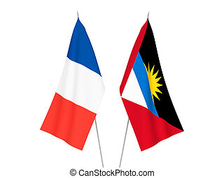 France and Antigua and Barbuda flags - National fabric flags...