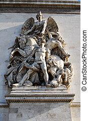 france., arco, triumph., parís