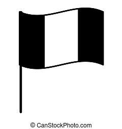 France black white flag