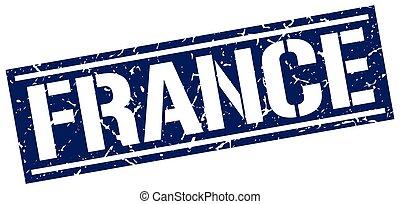 France blue square stamp