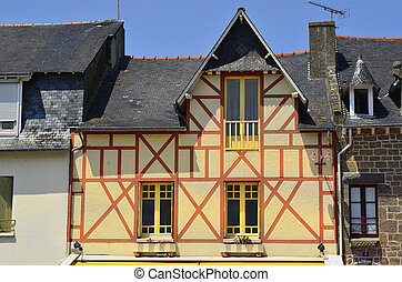 France, Brittany - France, half timbered houme in Cancale
