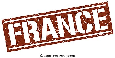 France brown square stamp