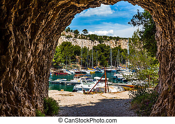 Sailing yachts  -  France. Calanques are the attractions of ...