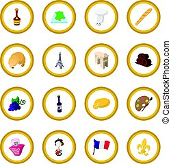 France cartoon icon circle