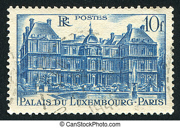 FRANCE - CIRCA 1946: stamp printed by France, shows Luxembourg Palace, circa 1946
