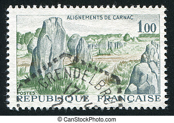 prehistoric stone monuments in Carnac