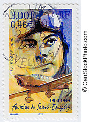 FRANCE - CIRCA 2000: stamp printed in France shows creator...