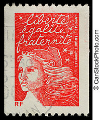 Postage Stamp - FRANCE - CIRCA 2002: A French Used Postage...