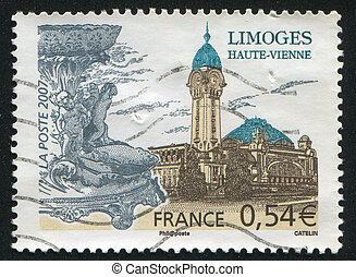 FRANCE - CIRCA 2007: stamp printed by France, shows Limoges, circa 2007