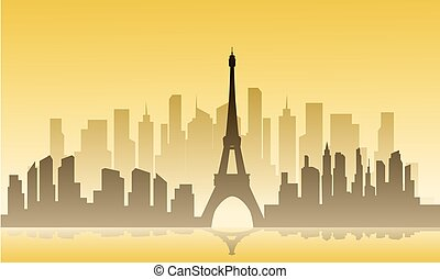 France city of silhouette