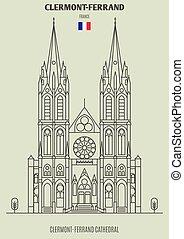 france., clermont-ferrand, διακριτικό σημείο , εικόνα , καθεδρικόs ναόs