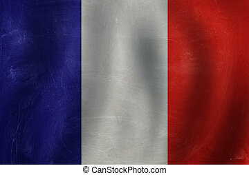 France concept with French flag background. Travel in France.
