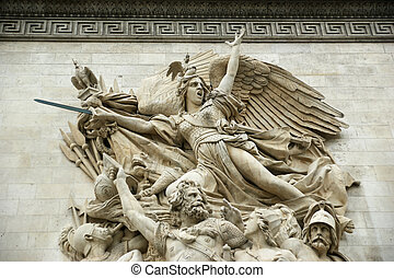 france., de, 弧, triomphe, パリ