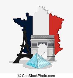 France design. eiffel tower landmark. vector graphic