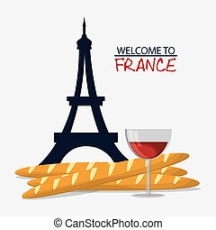 France design. eiffel tower landmark. vector graphic