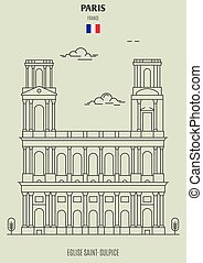 france., eglise, saint-sulpice, διακριτικό σημείο , εικόνα , παρίσι