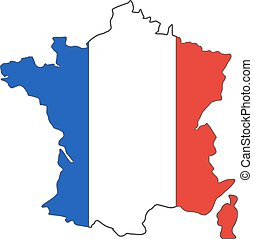 France euro championship 2016 flag design. Football...