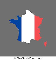 France flag and map